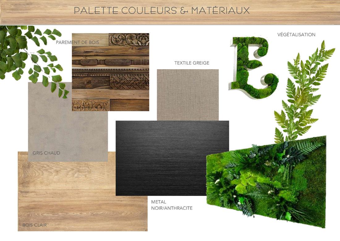 palette couleurs et matériaux